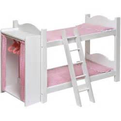 Baby Doll Beds Walmart by Badger Basket Doll Bunk Bed With Ladder And Armoire Fits