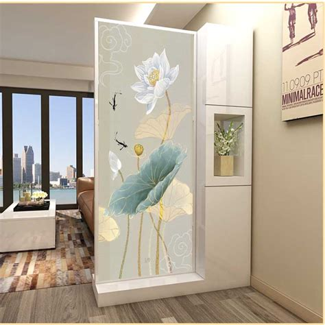 customized retro flower frosted glass stickers transparent