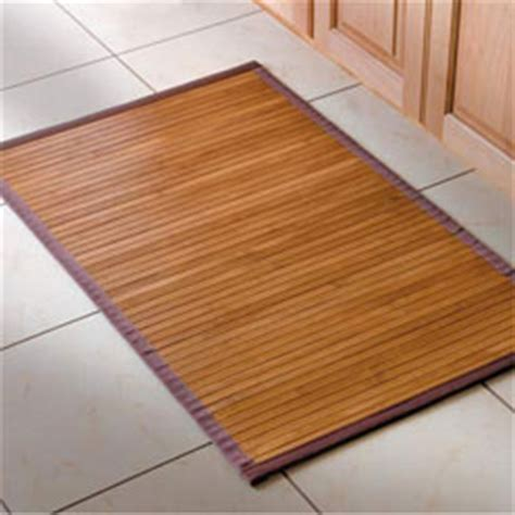 Consider A Bamboo Bath Or Kitchen Mat  Furniture & Home