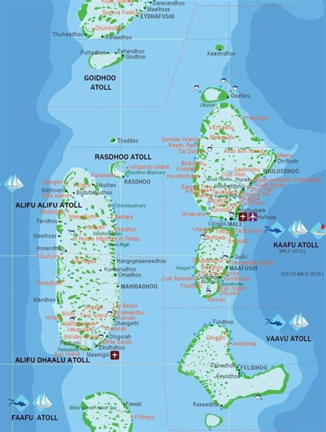 The Maldives A Group Of About 1200 Islands Separated