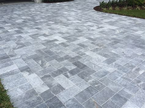 16x16 Patio Pavers by Sky Blue Tumbled Marble Pavers 16x16 Pavers