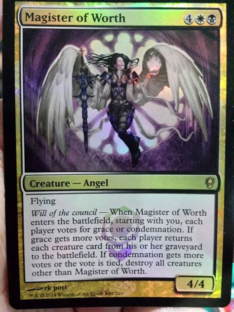 magister of worth new card discussion the rumor mill magic fundamentals mtg salvation