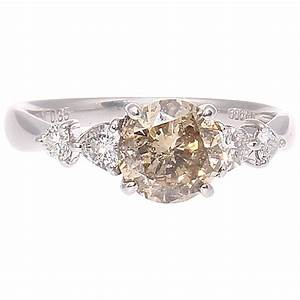 light champagne colored diamond platinum engagement ring With wedding rings with colored diamonds