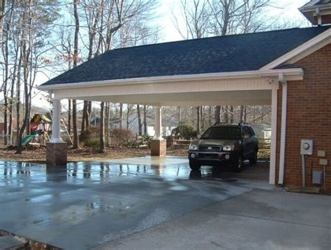 Add Garage Door To Carport by Attached Carport To House See 5 Top Designs Up To 6 Tips