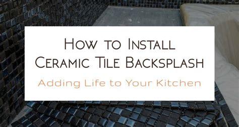 how to install glass tile backsplash in kitchen brick slips ceramic tiles tiling tips