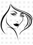 Beautiful Woman Face Clip Art  Beautiful Lady Face Clip Art
