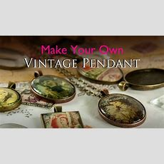 Make Your Own Vintage Pendant  Glass Tile Tray Vintage