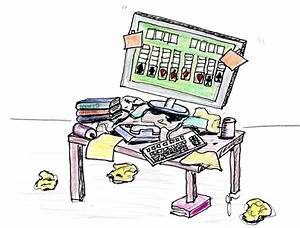 Messy student desk clipart - Clip Art Library