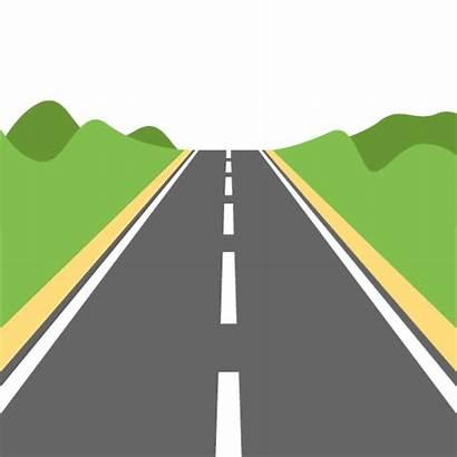 Road Motorway Emoji Clipart Svg Highway Icon