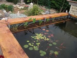 Construire Un Bassin De Jardin Hors Sol En Bois. fabriquer un bassin ...