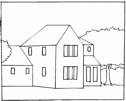 Coloring Buildings Pages House4 Freecoloringpagefun