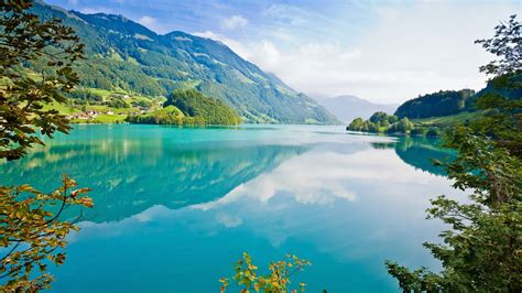Nature Image Hd by Lake Mountain Cyan Reflection Nature Landscape Trees