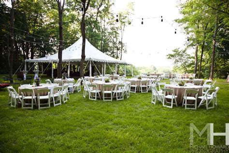 no tent outside on the lawn patio at fcf tables chairs