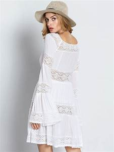 Boho Mode Online Shop : online shopping for white long sleeve boho dress with crochet lace from a great selection of ~ Watch28wear.com Haus und Dekorationen