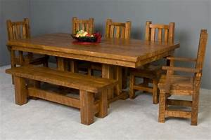 barn wood trestle dining table With barnwood kitchen table and chairs