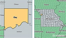 Clay County, Missouri / Map of Clay County, MO / Where is ...