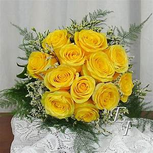 Yellow Rose Wedding Bouquet EF-705   Essex Florist ...
