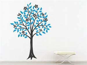 Baum Mit Blüten : wandtattoo baum mit bl ten und bl ttern als wandtattoo ~ Frokenaadalensverden.com Haus und Dekorationen