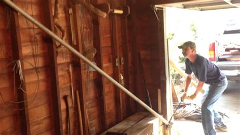 lifting a garage from the foundation how to fix leaning garage w car hd