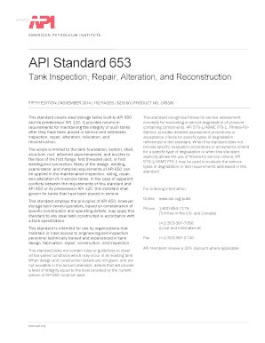 api 653 tank inspection sample report - Fillable