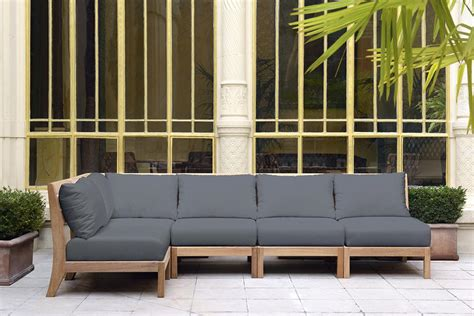 canapé teck jardin pourquoi choisir un mobilier en teck quand les meubles de