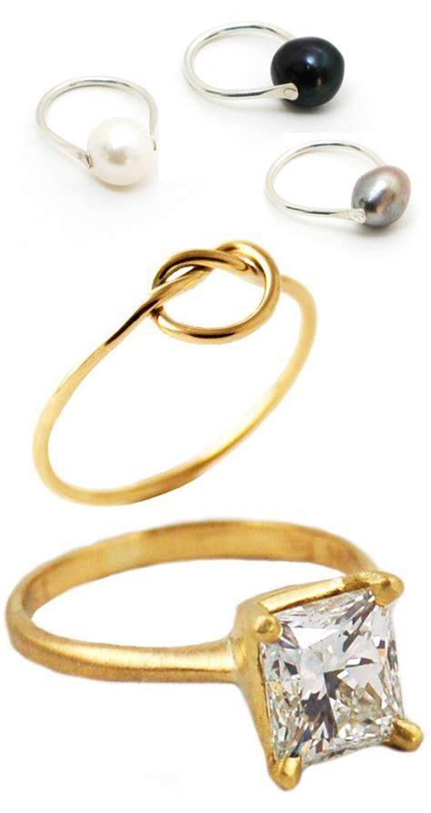 gorgeous alternative wedding and engagement rings junebug weddings