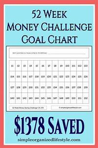 52 Week Money Challenge Goal Chart Printable Savemoney