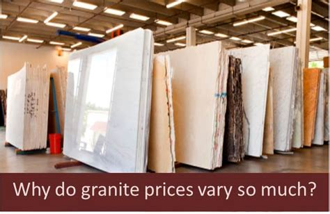 granite countertop prices why do prices vary so much