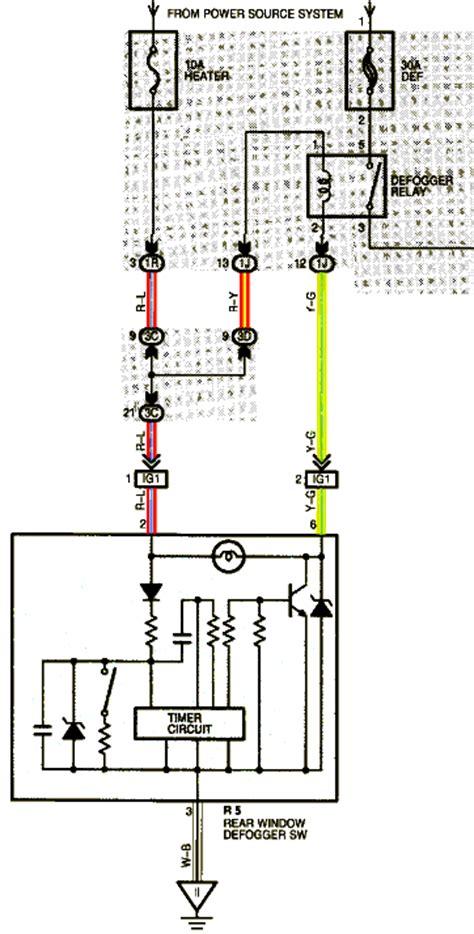 Free Auto Wiring Diagram Toyota Sienna Rear Window
