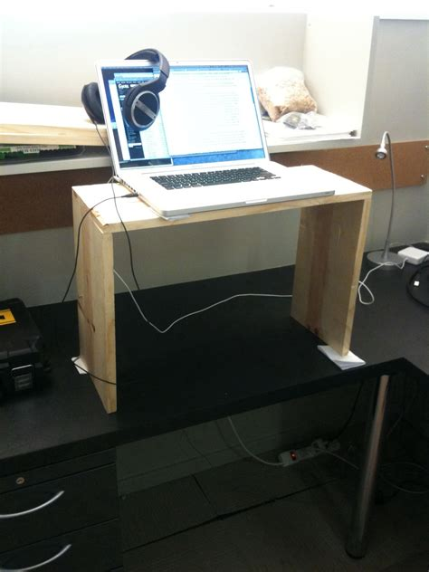 convert desk to standing desk quick and free ways to convert an existing desk into a