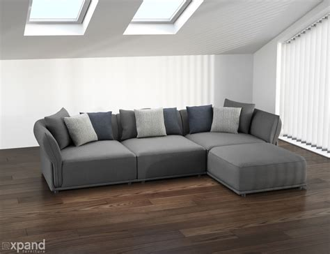 What Is Sectional Sofa by Stratus Sofa Modern Modular Sectional Set Of 5 Expand