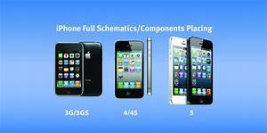 Iphone 3g  3gs  4  4s  5 Full Schematics Component Placing