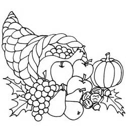 thanksgiving coloring pages thanksgiving cornucopia coloring pages