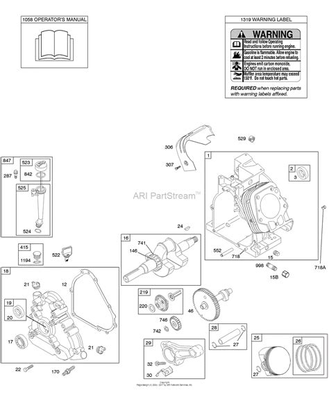 204412 Engine Diagram by Briggs And Stratton 204412 0276 E1 Parts Diagram For