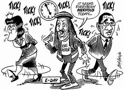 Jamaica Gleaner February Cartoons Elections Cartoon Thursday