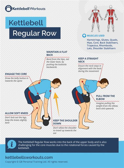 kettlebell row regular exercises