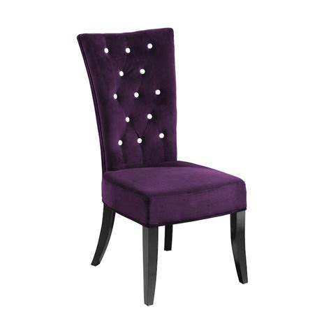 purple leather dining chairs chair pads cushions
