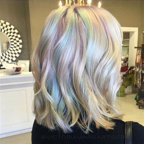 iridescent hair color 50 expressive opal hair color for every occasion
