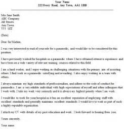 resume cover letter for paramedics paramedic cover letter sle lettercv