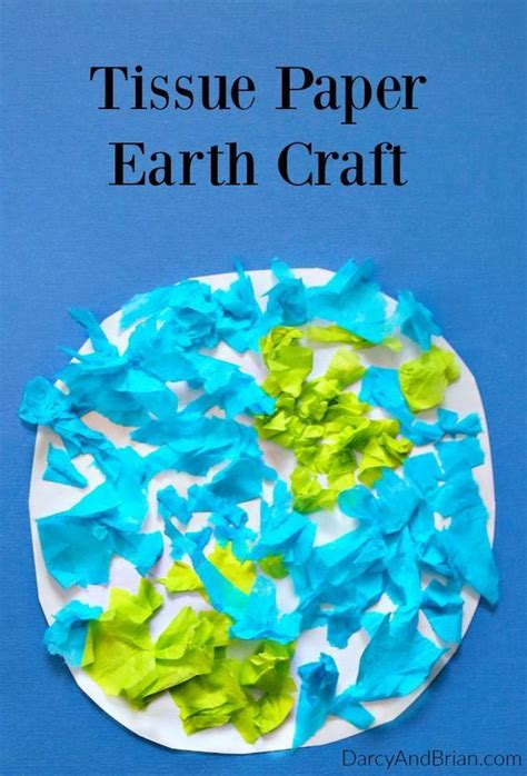 fun tissue paper earth day craft  kids earth day