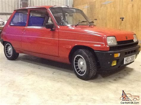renault turbo for sale 1983 renault 5 gordini turbo red