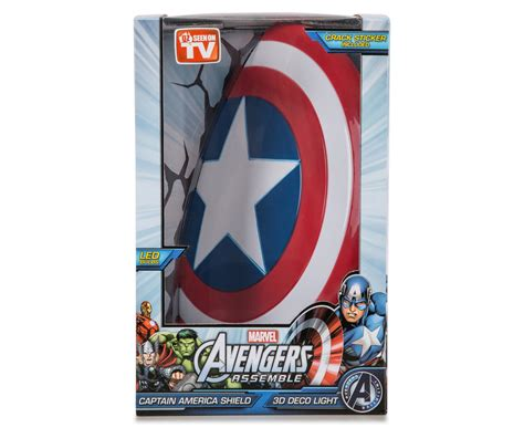 3d marvel captain america shield wall light white