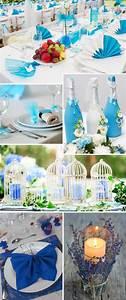 Tischdeko Blau Weiß : tischdeko in t rkis blau viele ideen f r die hochzeitsdeko ~ Markanthonyermac.com Haus und Dekorationen