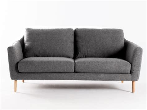 canapé style canapé fixe tissu pieds bois style scandinave hej gris