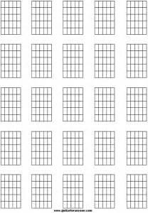 Blank Guitar Chord Sheets Printable