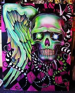 Colorful Skull by GracyG89 on DeviantArt