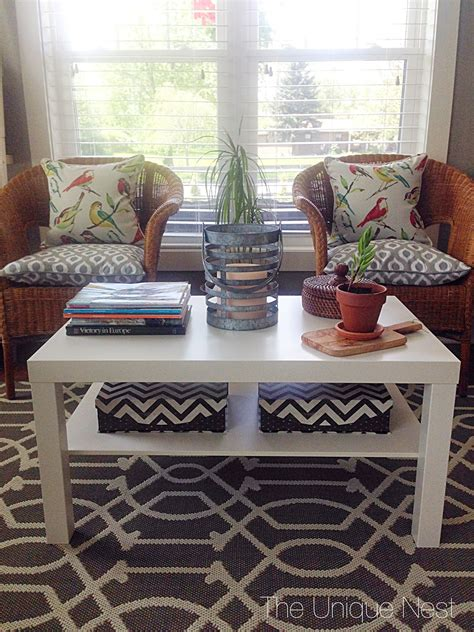 Did you scroll all this way to get facts about outdoor coffee table? $50 DIY Outdoor Coffee Table (IKEA hack) - The Unique Nest