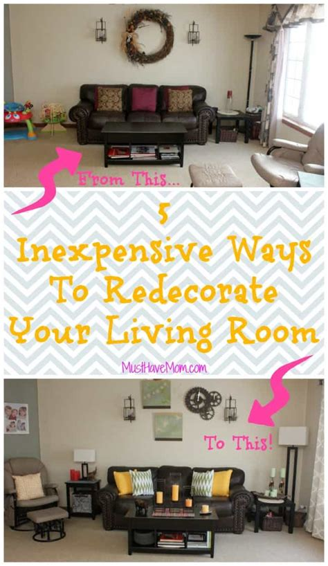 ways to decorate your living room 5 inexpensive ways to decorate your living room