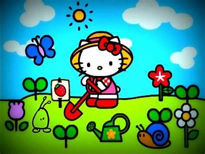 Kitty Hello Spring Desktop Wallpapers Sanrio Vibes