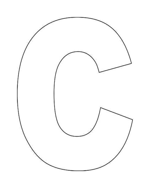 alphabet letter  template  kidsjpg